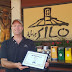 Silo owner accepts 'Best Burger' award