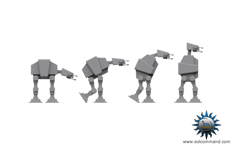 Imperial Walker AT AT-AT Hoth Vehicle Rebel evolution human man ape sci fi terrain robot futuristic legs old republic ground assault combat 3d model free download mesh low poly game ready solcommand star wars animal futuristic