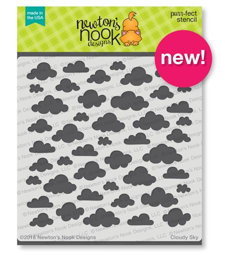 Cloudy Sky Stencil | Newton's Nook Designs