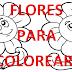 FLORES (colorear)