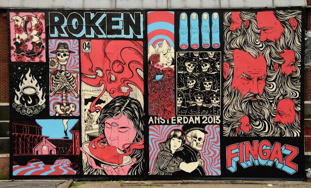 Street Art Mural By Broken Fingaz In Amsterdam, Netherlands.