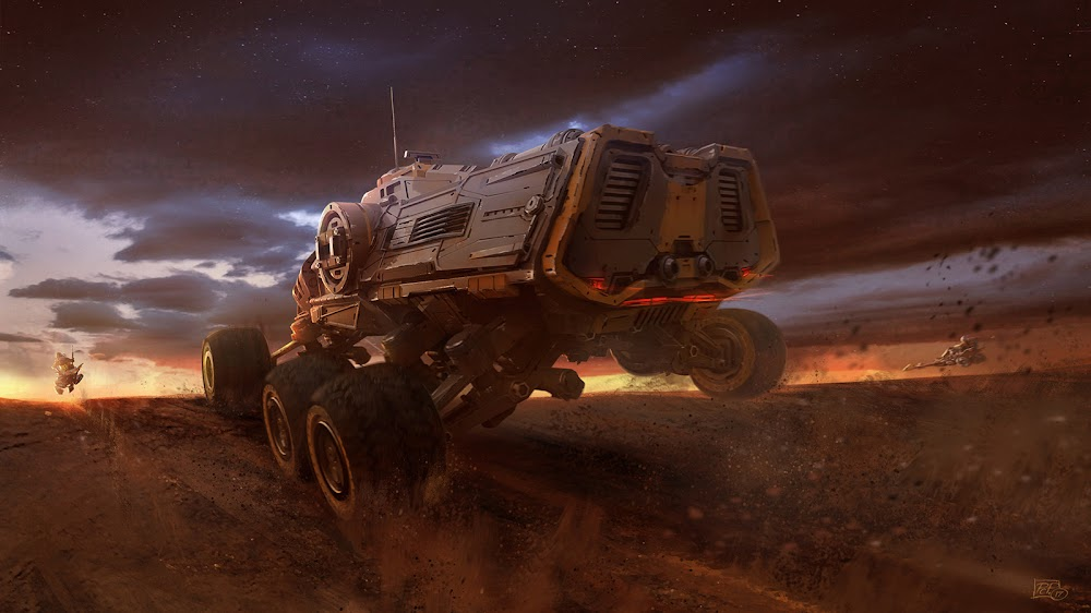 Mars truck on the move by Pat Presley