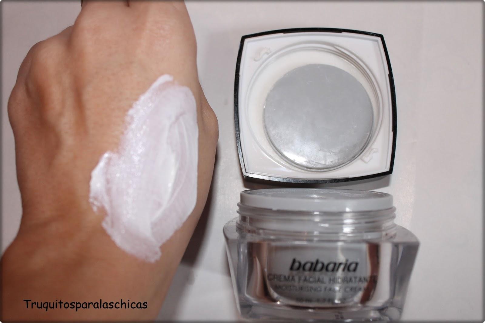 crema facial de babaria