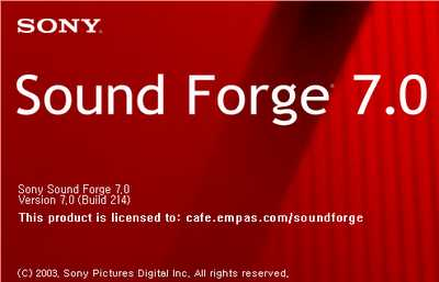 Sony Sound Forge 7.0 + KeyGen