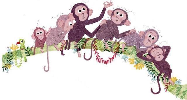 Ilustración del álbum ilustrado Pequeña en la jungla de Marta Altés