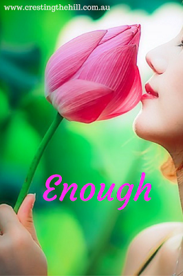 "2017 is the year of contentment - saying ""I am enough, I have enough"""