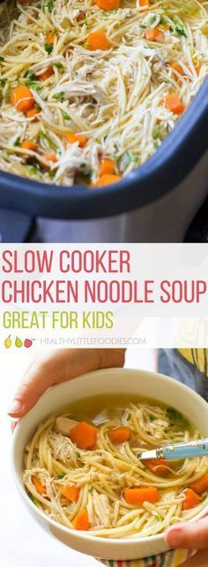 SLOW COOKER CHICKEN NOODLE SOUP RECIPES