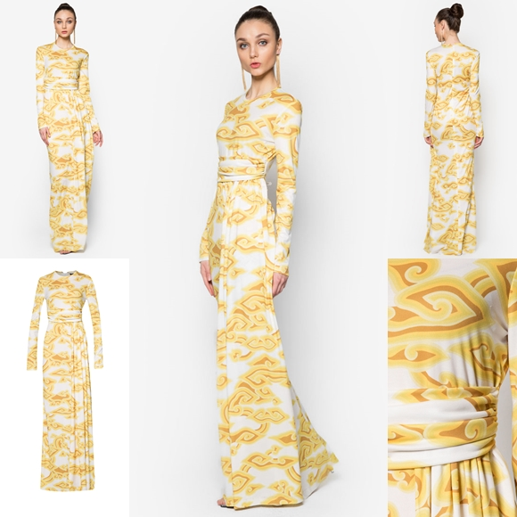 Fesyen Trend Terkini Baju Raya 2016 By Rizalman Marmar Collection Yellow