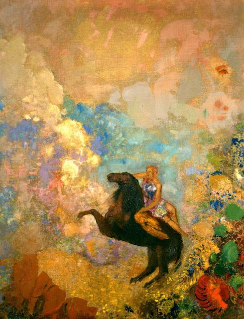 オディロン・ルドン、不気味な「目」を描いた画家の作品、10枚【a】 ペガサズにのるミューズ