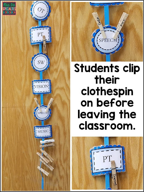 Student check out system for a quick visual on which students are out of the room.