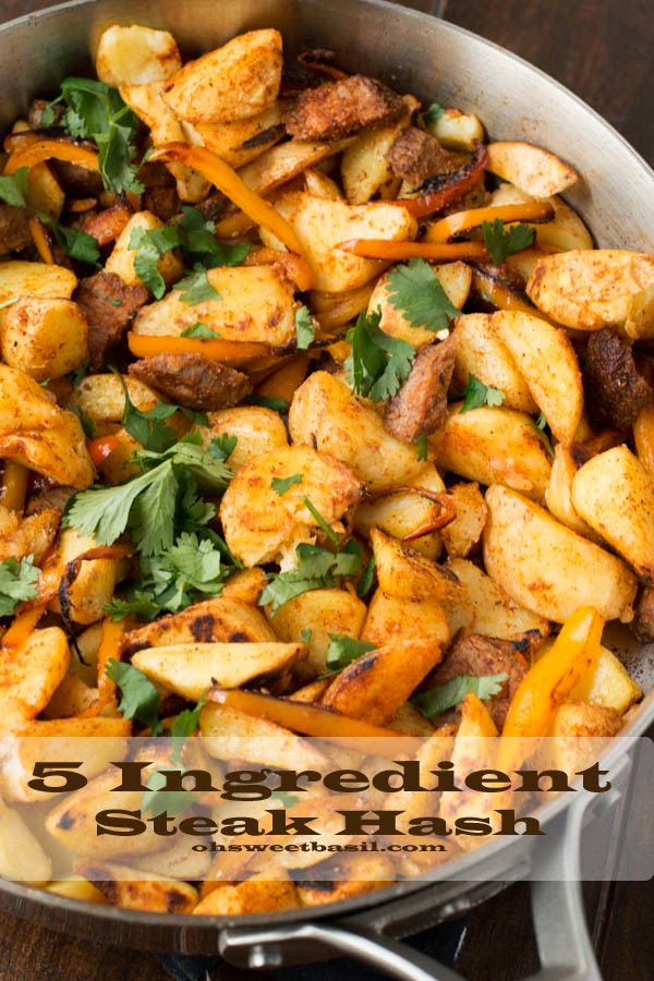 5-Ingredient Steak Hash from ohsweetbasil.com