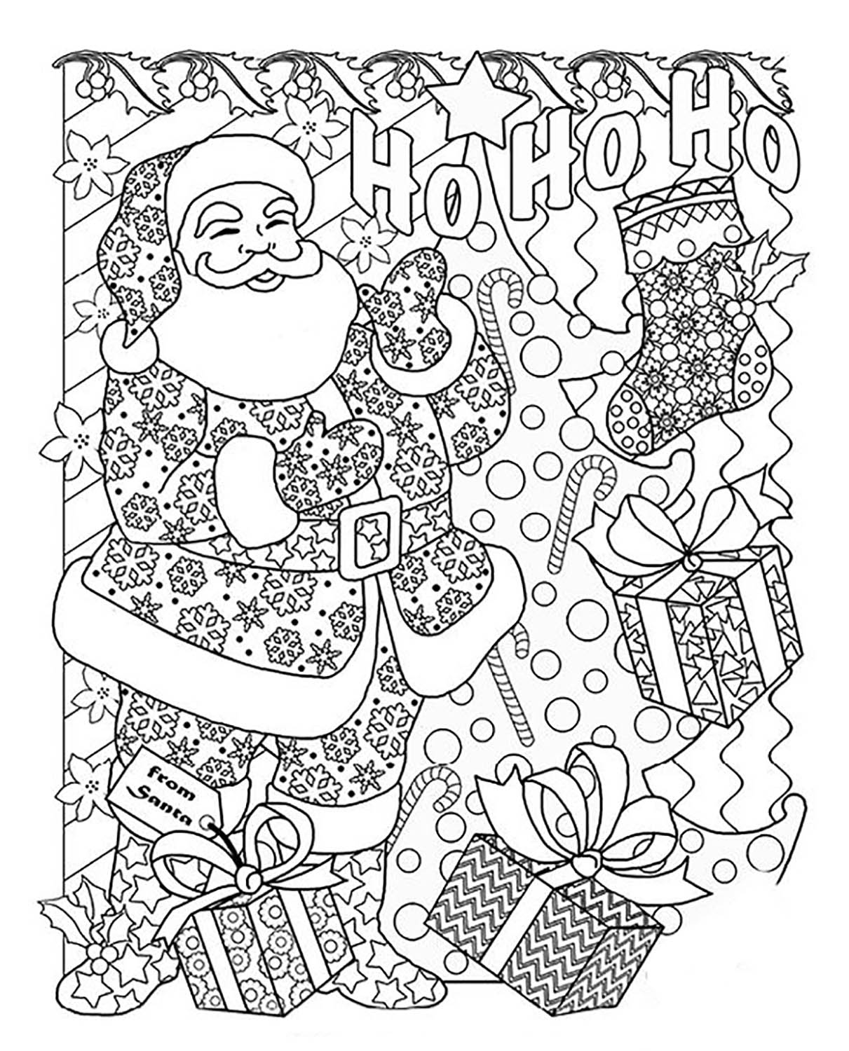 jolly christmas coloring books for adults gecko galz jolly designs by nancy nickel 7805