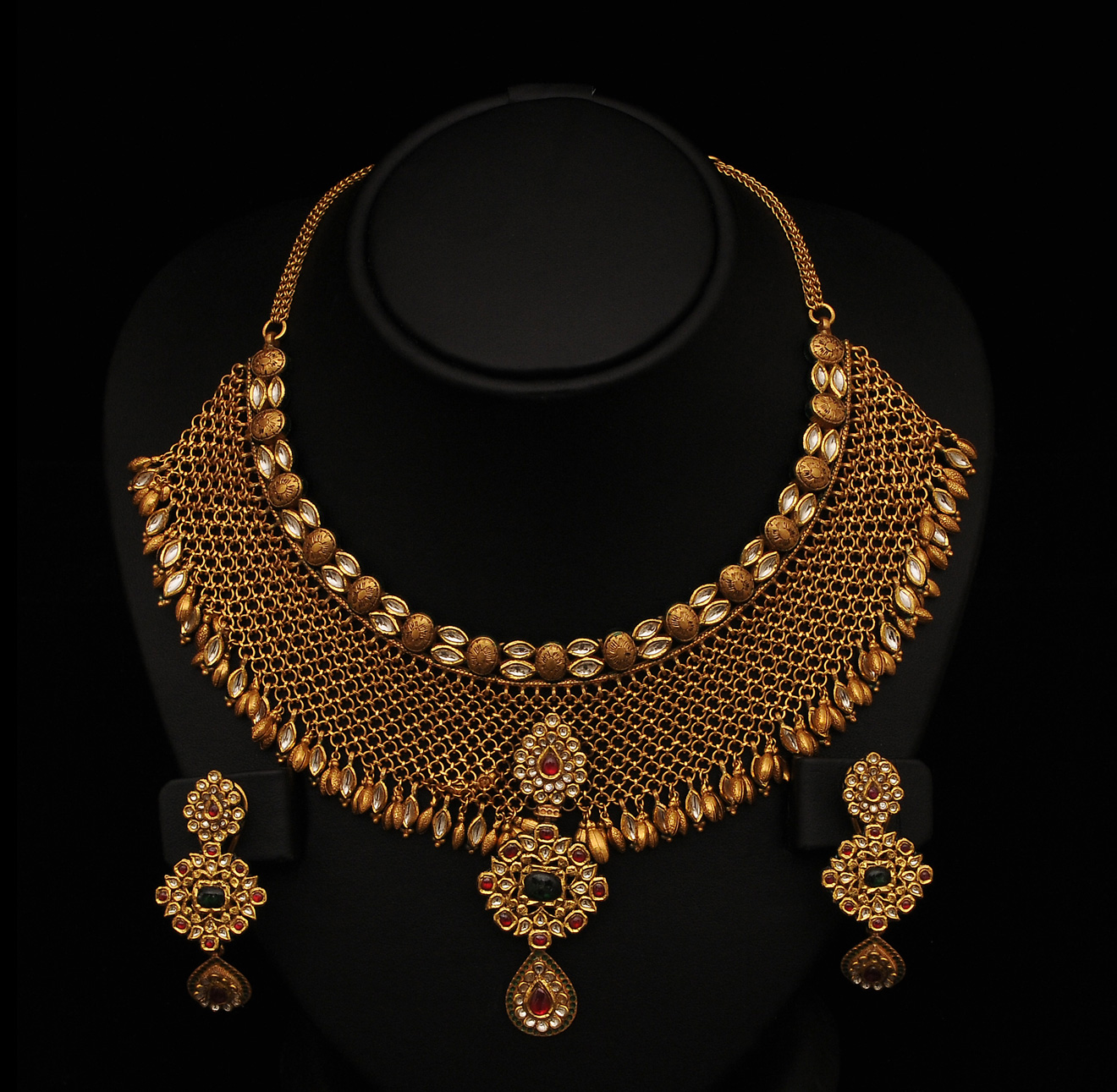 kundan jewellery & Necklace's designs | SUDHAKAR GOLD WORKS