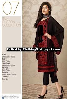 Sobia Nazir Eid 2015 Silk Chiffon