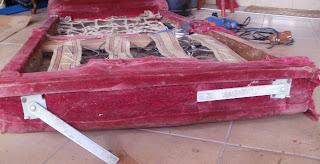 rozkładany fotel PRL jak odnowić