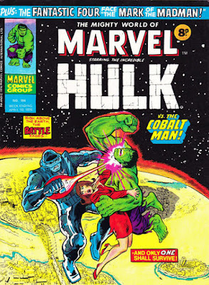 Mighty World of Marvel #184, Hulk vs Cobalt Man