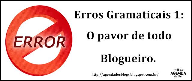 Erros gramaticais no blog