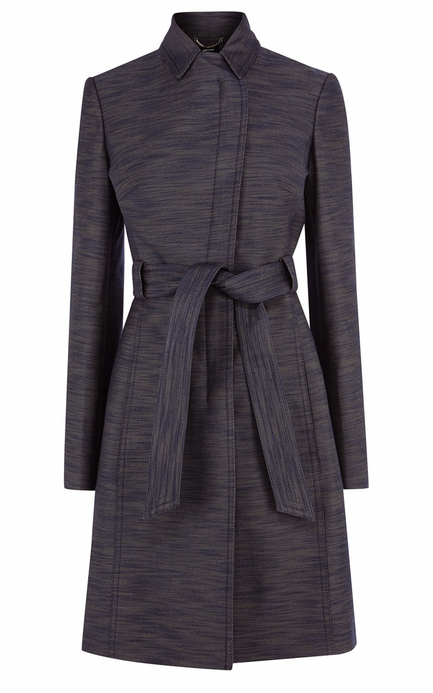 Karen Millen Denim Effect Trench