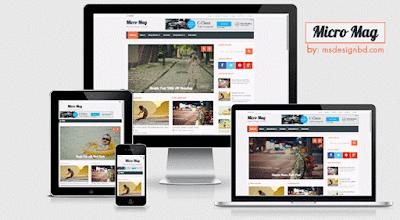 Micro Mag - Template Blog Responsive untuk Majalah Berita Online