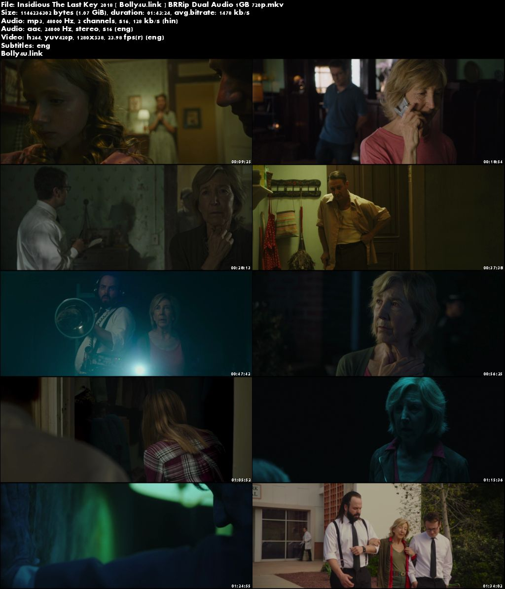 Insidious The Last Key 2018 BRRip 350MB Hindi Dual Audio 480p Download
