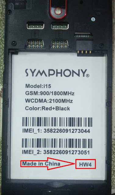 Symphony i15 HW4 Firmware Flash File