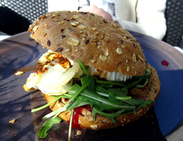 Goat's Cheese Veggie Burger Van der Valk Hotel Restaurant Vianen in Utrecht, Netherlands