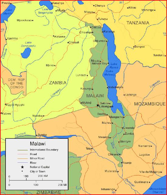 image: Map of Malawi