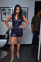 Sanjana looks happy in sparkling short Deep neck Purple Gown ~  Exclusive 62.JPG