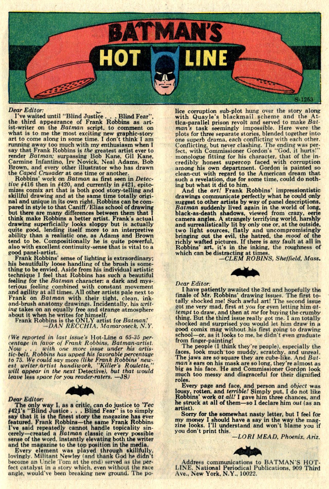 Detective Comics (1937) 425 Page 20