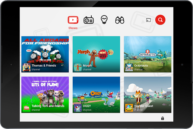 Youtube Kids app for toddlers and young children