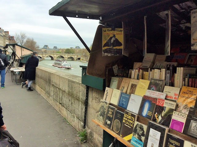 stalls along the Seine Paris