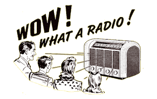 family with old radio