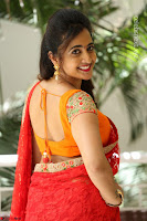 Lasya Cute Beauty in Saree Backless Choli at her Interview ~  Exclusive 065.JPG