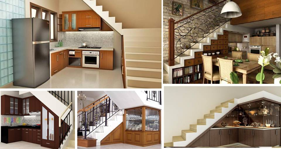 20 Creative Storage Solutions To Customize Your Kitchen Under The Stairs