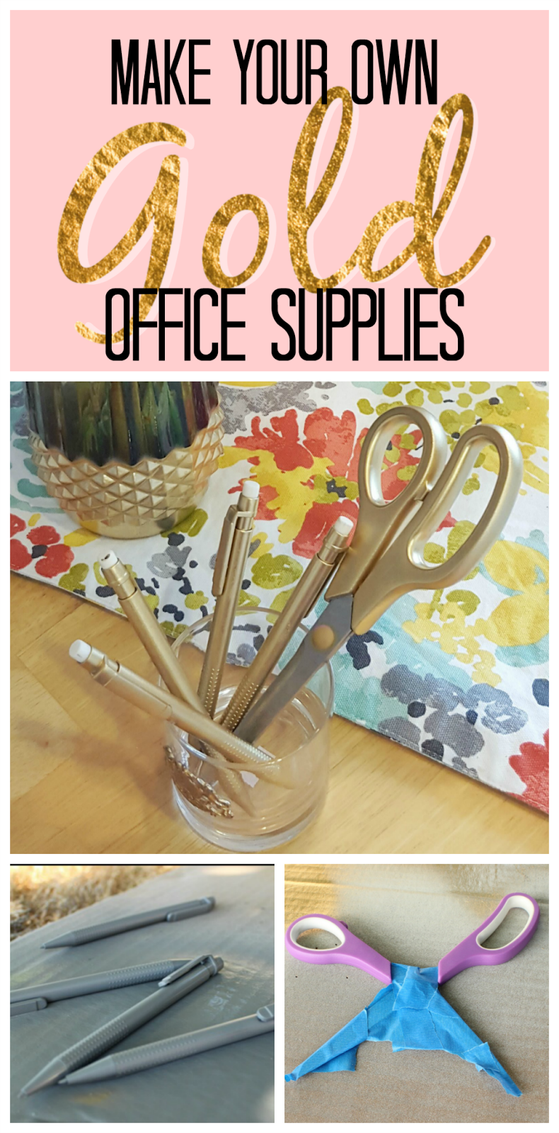 Creative Officewear Made Totally By Office Supply: Office DIY: Gold Scissors And Gold Pencils For $1!
