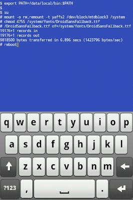 Mengganti Font Dengan Terminal Emulator