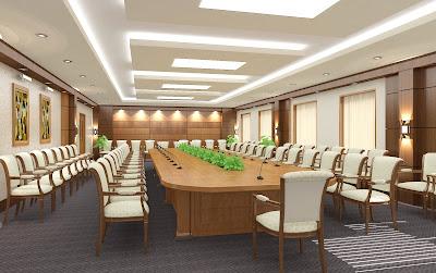Bàn ghế phòng họp sang trọng, hiện đại