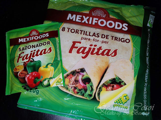 Tortillas de trigo para Fajitas Sazonador Mexifoods Caja Degustabox - Septiembre ´17