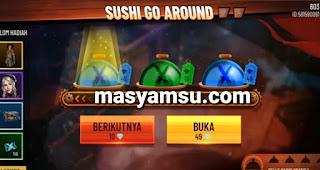 Saat ini Free Fire sedang mengadakan event terbaru Sushi Go Around dengan hadiah utama Mr. Death Bundle. Begini cara cepat mendapatkan bundle Mr. Death di event Sushi Go Around Free Fire.