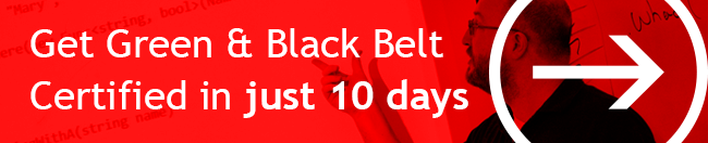 Get Green and Black Belt Certified in 10 Days