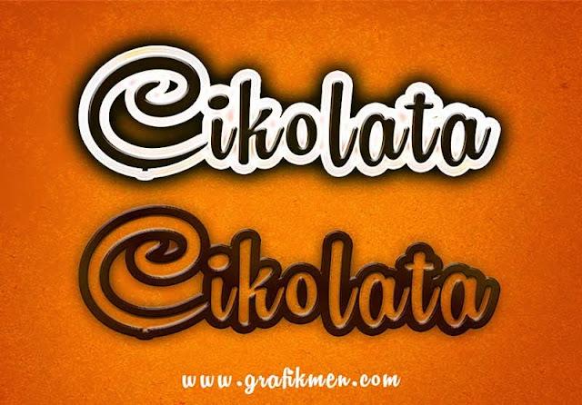 yazı efekti indir,çikolata yazı efekti indir,bedava yazı efekti indir
