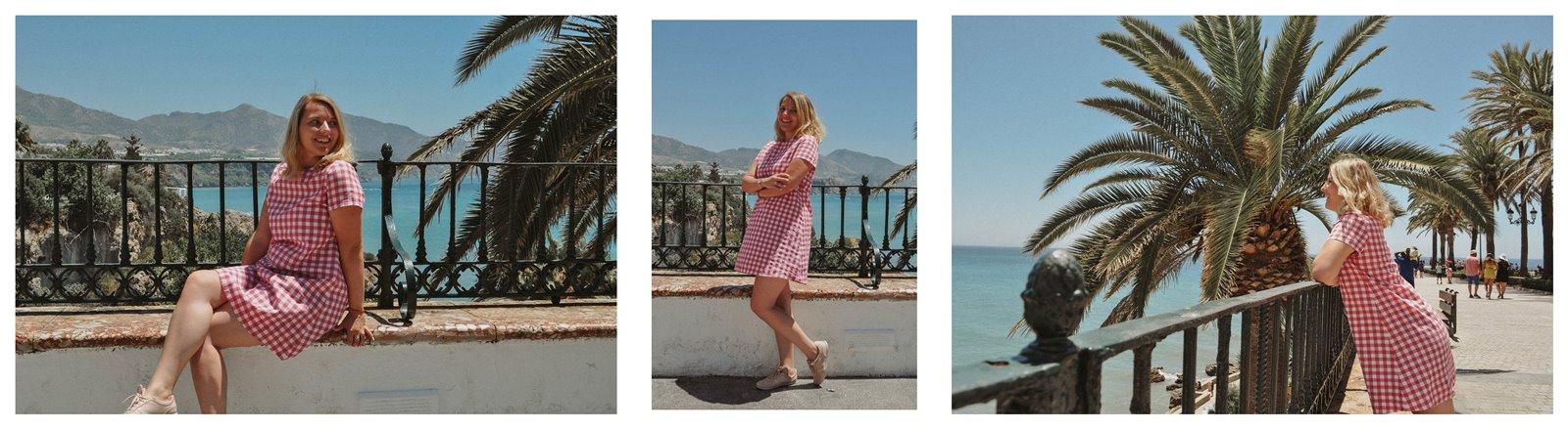 5a sukienka dziewczęca krata ubrania dla mam i córek krata różowa sukienka trapez 100% handmade polskie marki wspieram polskie nosze blog modowy melodylaniella fashion beauty style łódź nerja hiszpania zwiedzanie