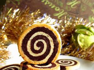 Bredeles spirales vanille et chocolat