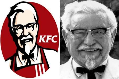 harland sanders, colonel sander, kentucky colonel, kentucky fried chicken, k.f.c,