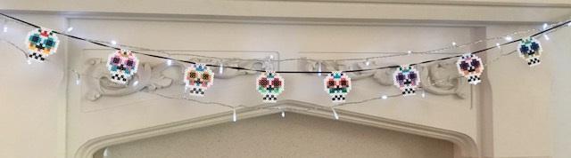 Hama bead sugar skull bunting designs