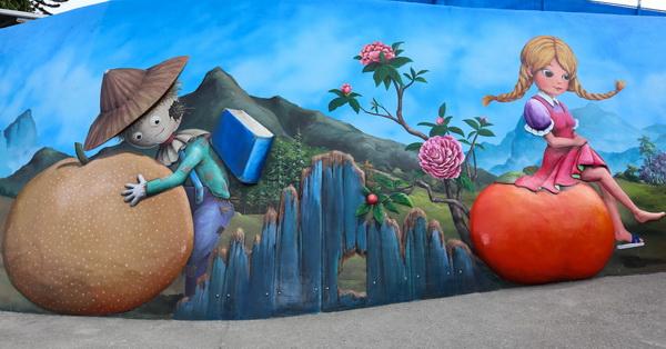 台中石岡九房童話世界3D彩繪村-全國最大4D彩繪場景
