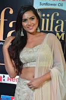Prajna Actress in backless Cream Choli and transparent saree at IIFA Utsavam Awards 2017 0003.JPG