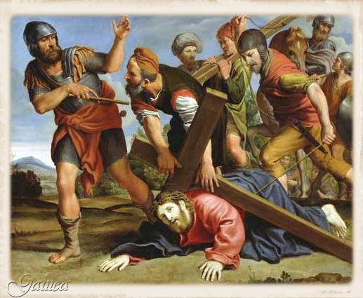 Resultado de imagem para Sagrado Corazón de Jesús a camino del calvario