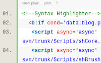 Cara Menampilkan Source Code pada Blogspot