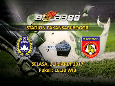 Agen MAXBET Online Terbaik - Prediksi Pertandingan Persahabatan, Indonesia vs Myanmar 21 Maret 2017